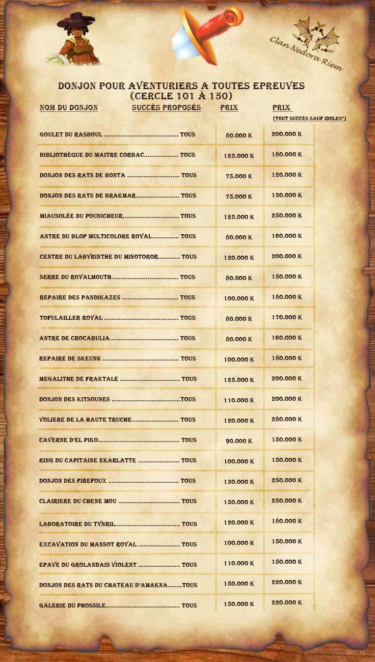 [Tarifs au 01/01/646] Contrat d'accompagnement en donjon Tarif110