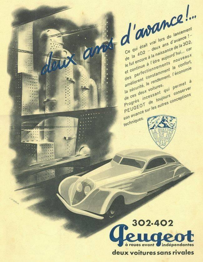 PUB Peugeot  d'époque 60412610