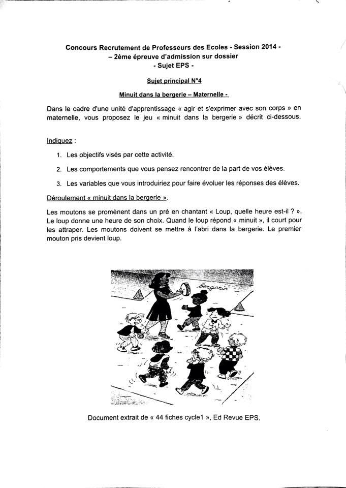 Sujets de réflexion type CRPE: DANSE Exempl10