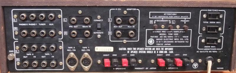 [Quest] Ampli audio, 240v ou 220v ? Nikko TRM 600 Dscf4314