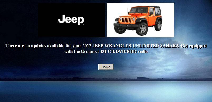 aggiornamento NAV jeep rubicon Cl289010
