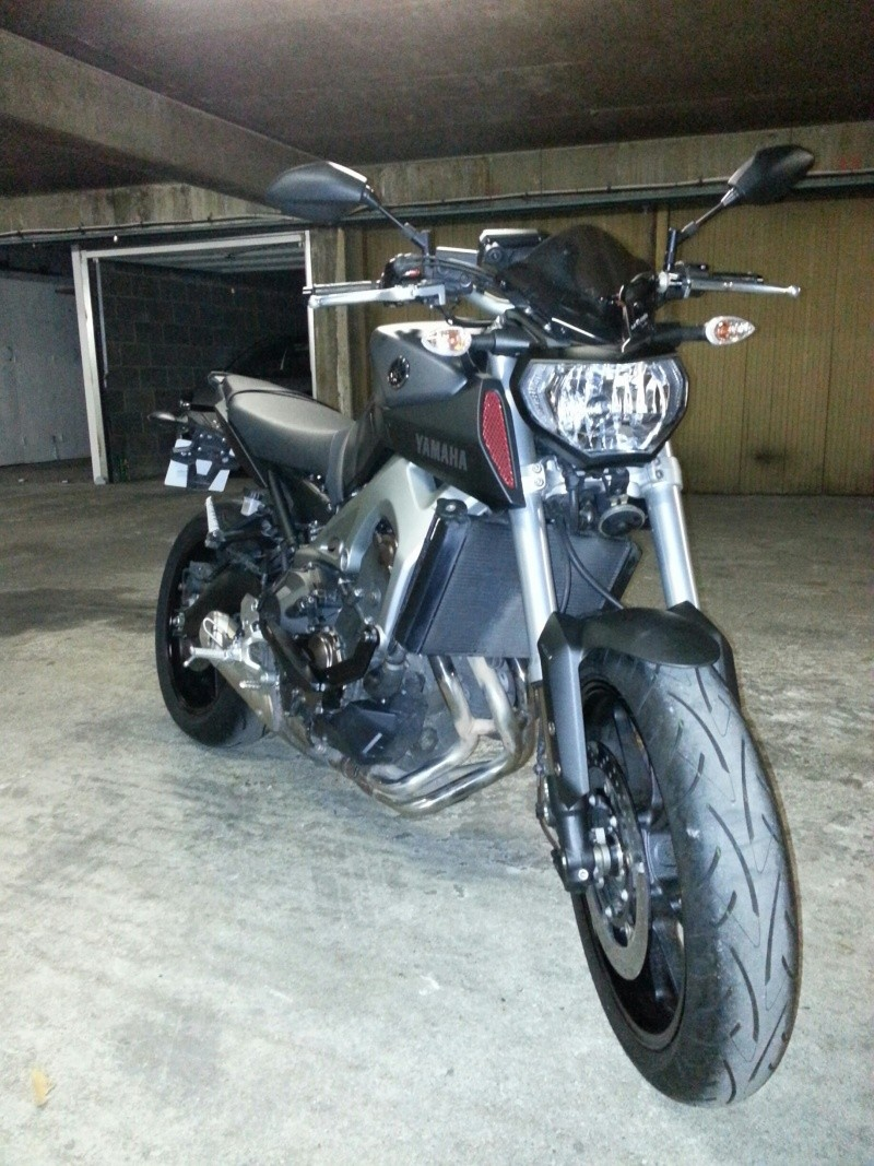 MT 09 MOTO CAGE : Mat Grey noire et rouge ;-) 20141112