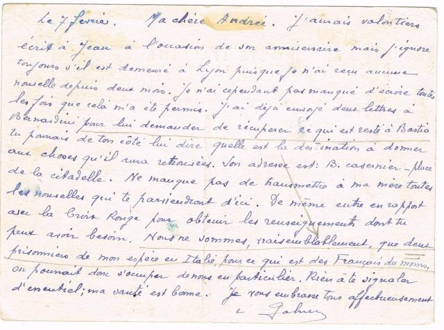 PRISONNIER DE GUERRE FRANÇAIS  1943/44  EN  ITALIE Ccf04112