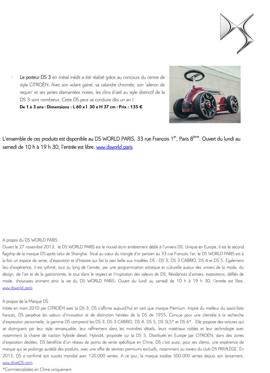 [ACTUALITE] Showroom DS World Paris - Page 7 Cp_noe12