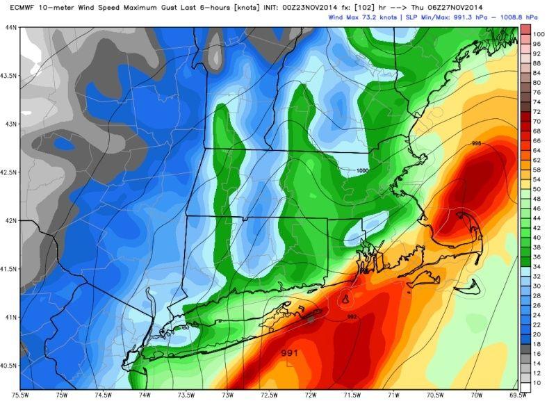 11/26 Strong Coastal Storm Possible - Page 4 Ecmwf_11