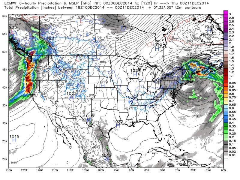 Possible Nor'easter Dec. 9th-10th - Page 6 Euro_111