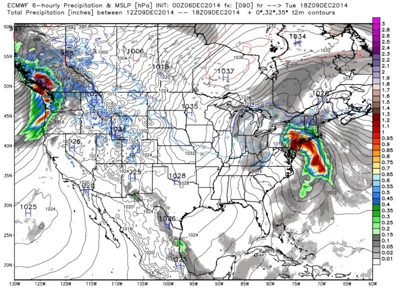 Possible Nor'easter Dec. 9th-10th - Page 6 Euro_911