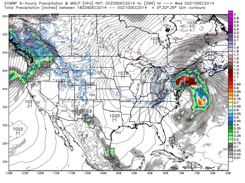 Possible Nor'easter Dec. 9th-10th - Page 6 Euro_912