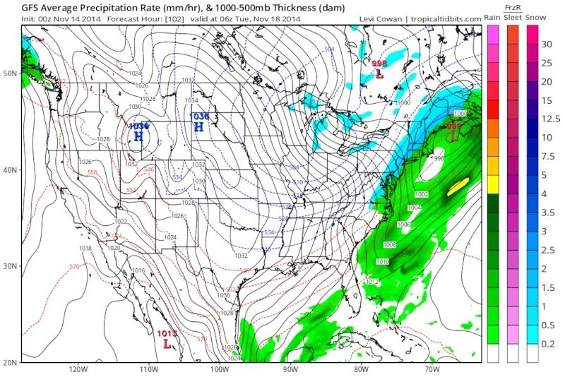 November 17th Storm Threat Gfs_1010