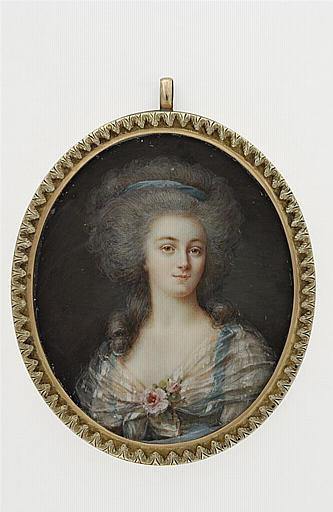 Portraits de Marie-Antoinette et Louis XVI, par Louis-Marie Sicard, dit Sicardi ou Sicardy M5035018