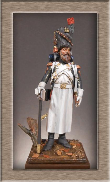 Sapeur des Chasseurs a pied de la Garde Métal Modèles 54mm 74_75211