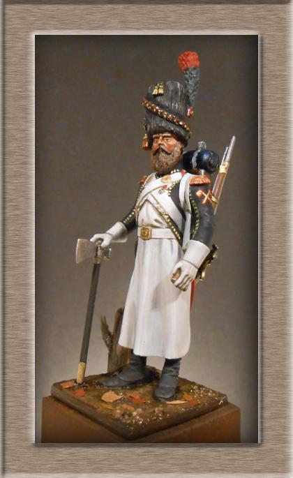 Sapeur des Chasseurs a pied de la Garde Métal Modèles 54mm 74_75311