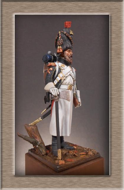 Sapeur des Chasseurs a pied de la Garde Métal Modèles 54mm 74_76111