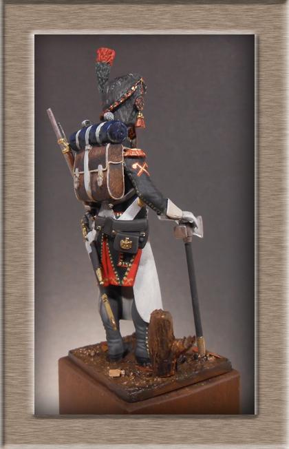 Sapeur des Chasseurs a pied de la Garde Métal Modèles 54mm 74_76511