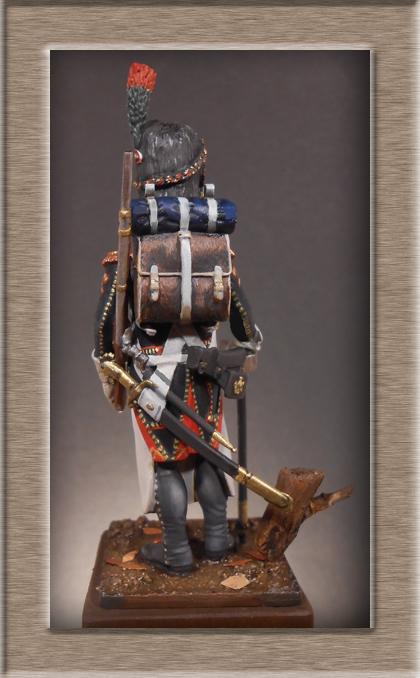 Sapeur des Chasseurs a pied de la Garde Métal Modèles 54mm 74_77011