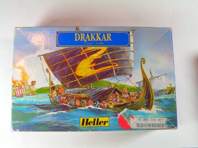Viking Drakkar Warship - Heller 1/180 Drakka10