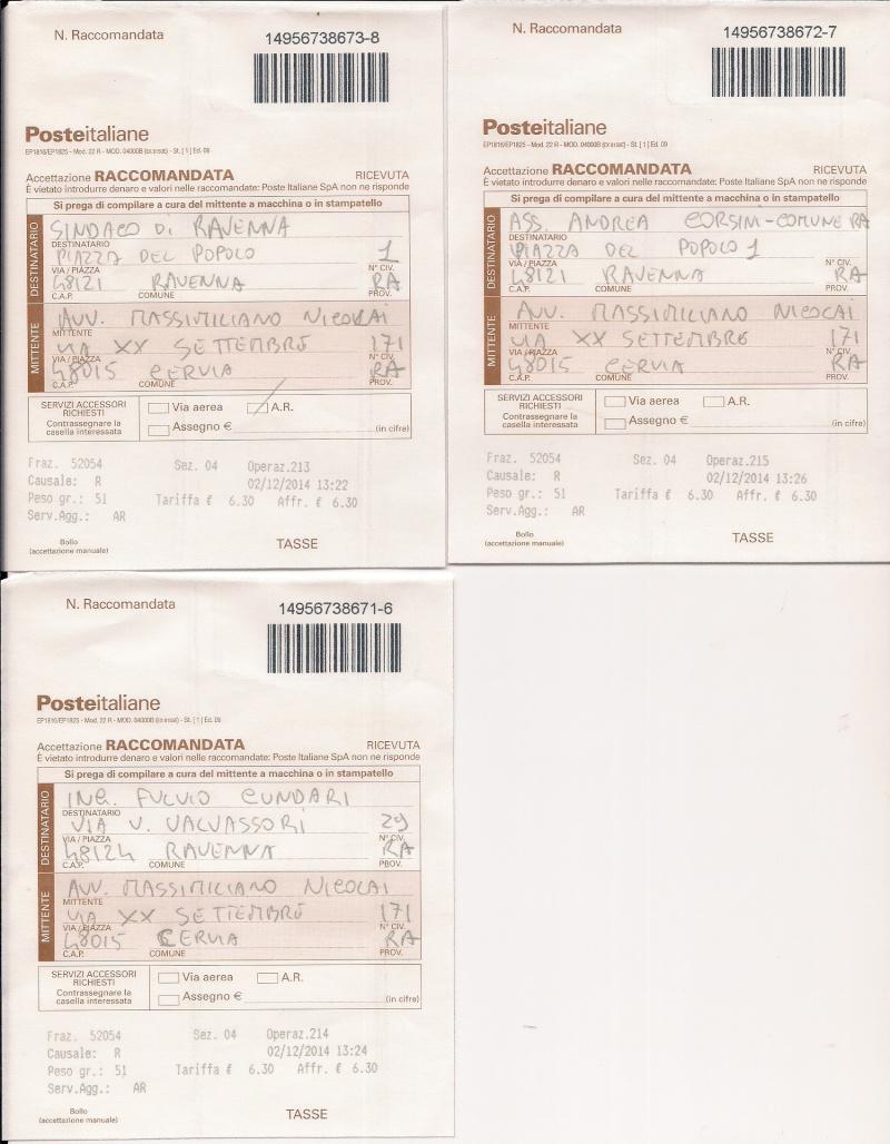 Contestati i lavori di riqualificazione Ex Statale Adriatica a Savio - invito ad ottemperare al Sindaco di Ravenna Ricevu10