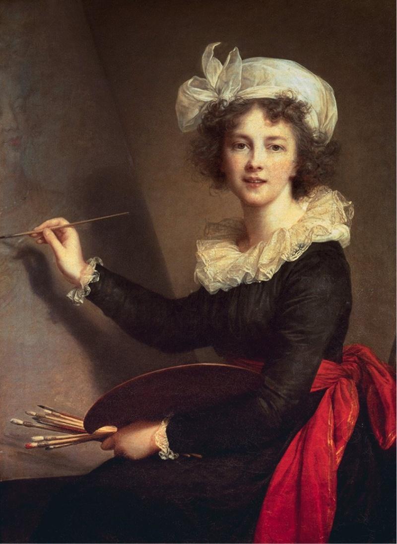 Elisabeth Vigée Lebrun, l'autoportait de 1790, Marie Antoinette et la Révolution Autopo10