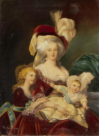 Déclinaisons faites d'après le portrait de Marie Antoinette et ses enfants de Vigée Lebrun Tumblr10