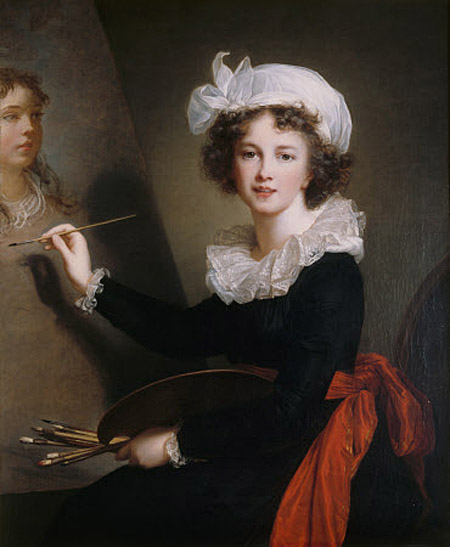 Elisabeth Vigée Lebrun, l'autoportait de 1790, Marie Antoinette et la Révolution Vlbflo10