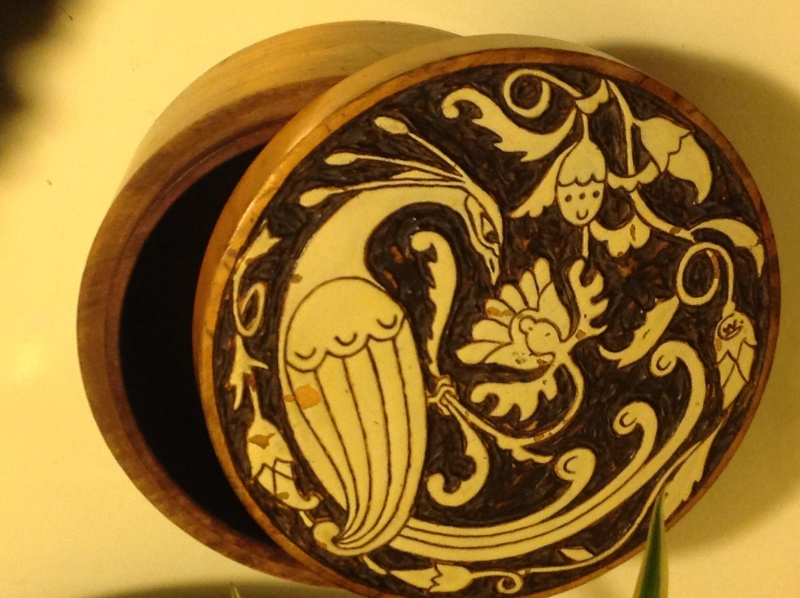 Carved wooden box 2014-133