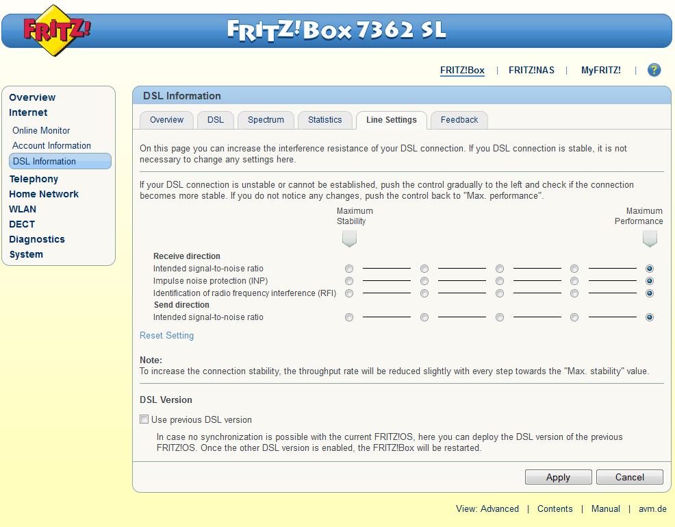 Cambiare Annex e possibilmente lingua al 7362SL 1&1 - Pagina 6 7362sl10