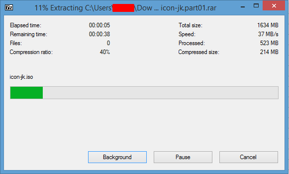 Extracting RAR Files With Multiple Parts Screen20