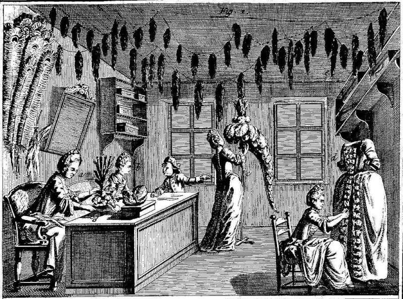Les plumassiers, ces artisans indispensables aux modes du XVIIIème siècle 1024px12
