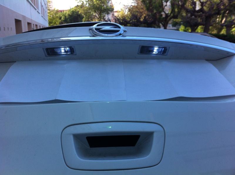 Montage ampoules LED 5W plafonnier et plaque d'immatriculation Opel Mokka Img_0518