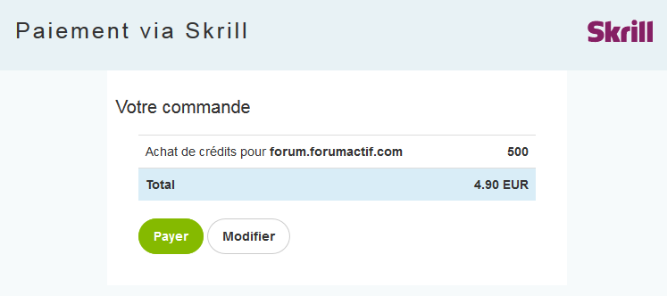 Skrill: Nouvelle solution d'achat de crédits 24-11-15