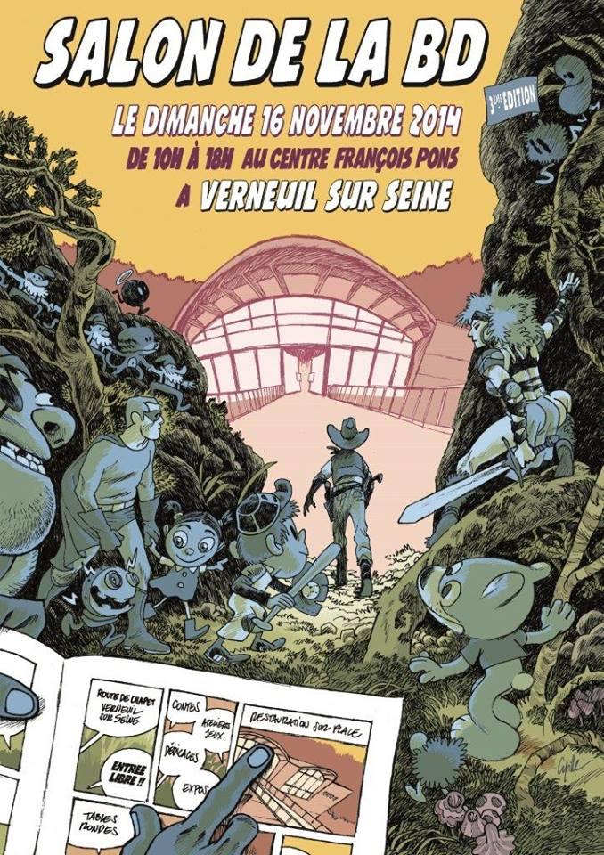 Salon de la BD et du livre jeunesse de Verneuil sur Seine Affich10
