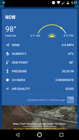 Post your current weather status Screen14