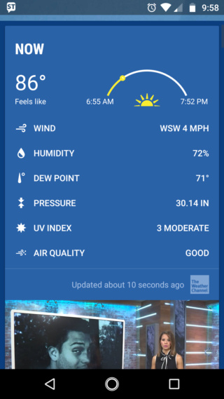 Post your current weather status Screen24