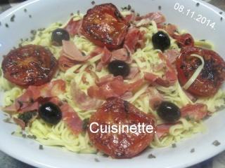 Pâtes Italienne et charcuteries.tomates.+ photos. Img_3510