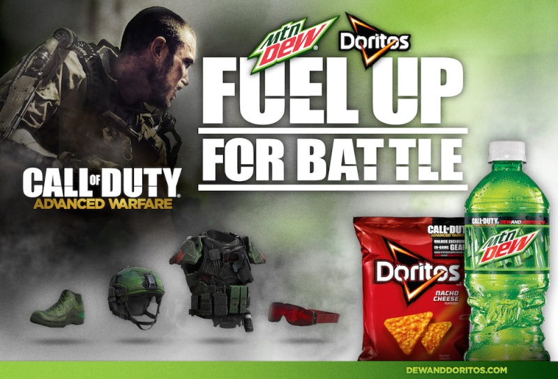 Put your Mountain Dew and Doritos craze to use! Call-o10