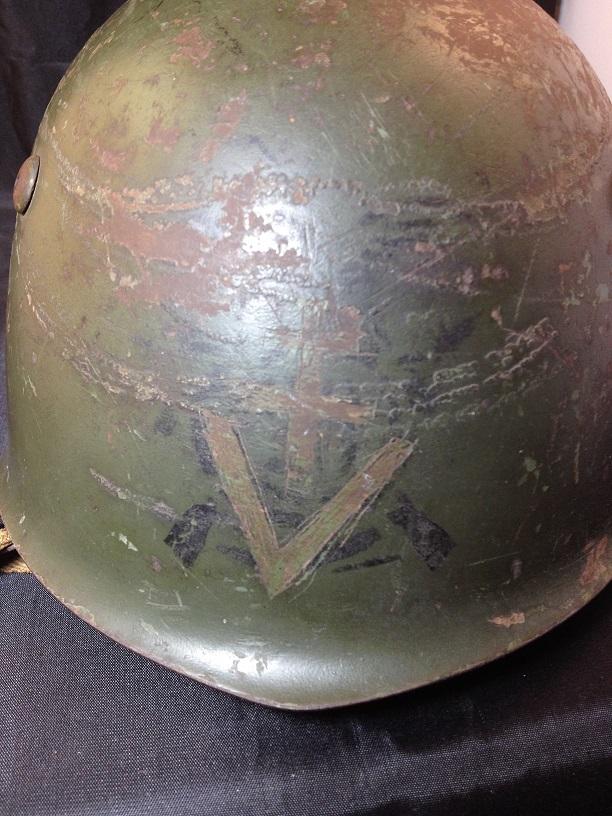 Une casque M.33 des Alpini , réutilisé par le F.F.I. ! Img_5523