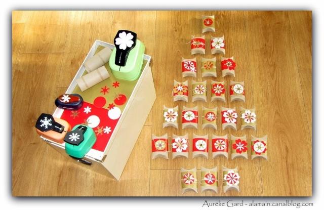 Calendrier de l'avent - Rouleaux de papier toil..... au service de Noël! Auryli12