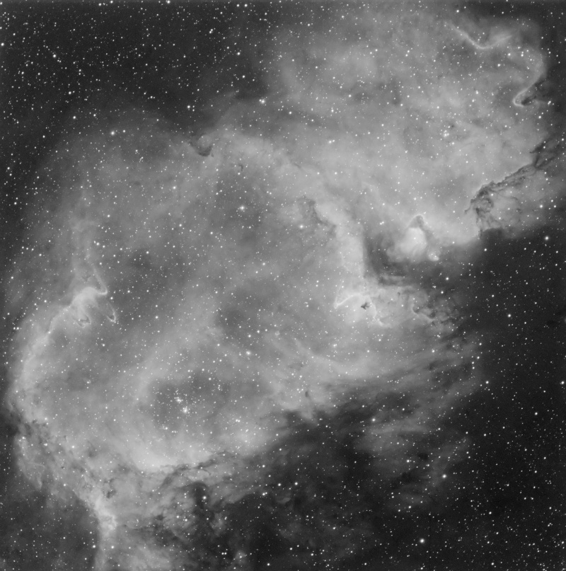 IC 1848 nébuleuse de l'âme en Ha Ic184811
