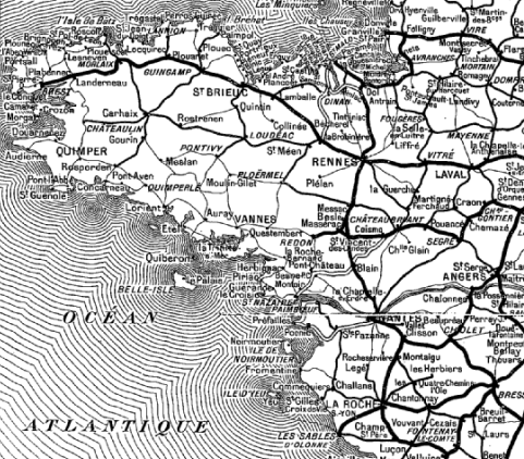 Rail en Bretagne & oust Pays de Loire au temps de l'Etat et du PO F10110