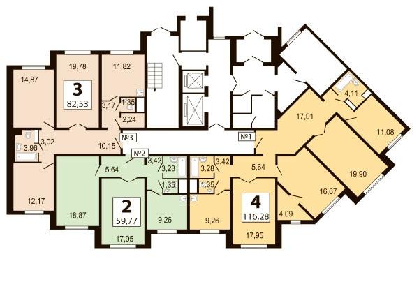 Бутово парк 2Б планировка квартир корпуса 3 Bp2b_k13