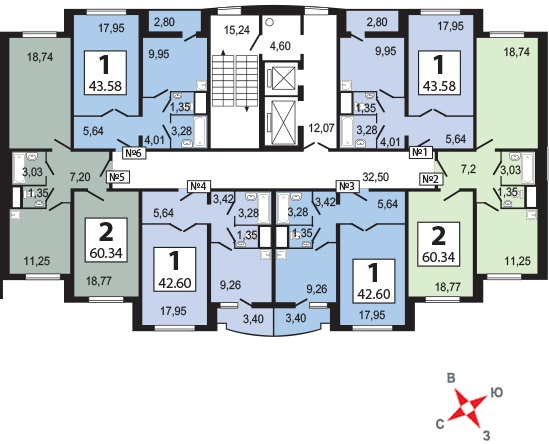 Бутово парк 2Б планировка квартир корпуса 3 Bp2b_k18