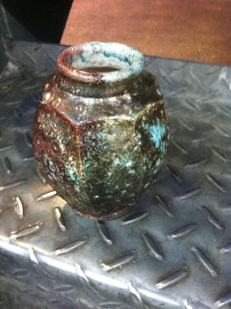 unusual faceted vase HC mark 03510