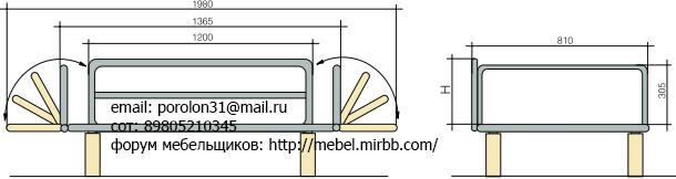 Механизмы трансформации мебели Банкетка Aia_410