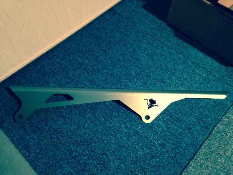 chaine - Pare-chaine alu Yamaha pour MT-09 Proteg11
