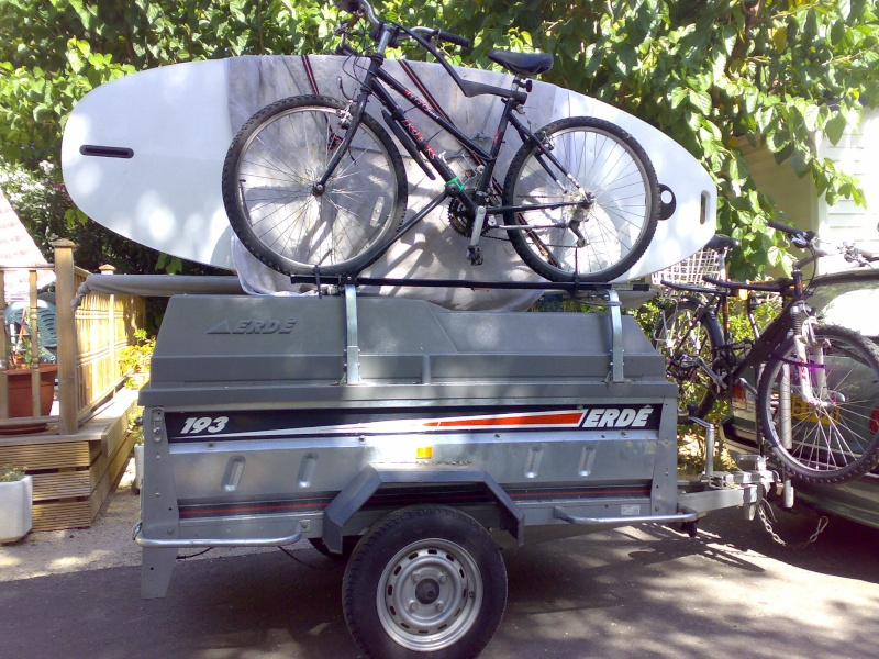rack - Brenderup Camping Trailer with Bike Rack 06082010