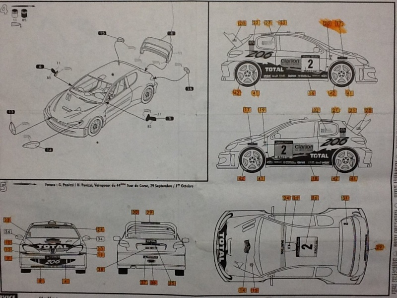 Notice PEUGEOT WRC 1/43ème Ref 80198 Helle320