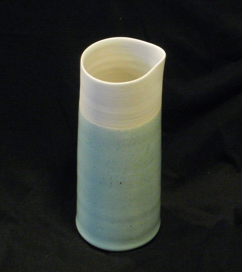 Duck Egg Blue Partly Glazed Carafe and Tumblers Pb090210