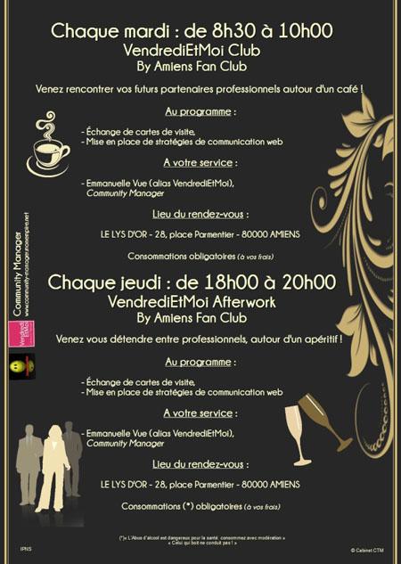 Chaque Mardi de 8h30 à 10h00 : Le Coffee Business de Amiens Fan Club au Lys d'Or Amiens18