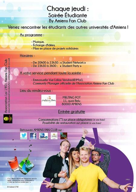 @AmiensFanClub @VendrediEtMoi #Communiqué : Chaque Vendredi à 20h : Soirée Professionnelle #TMCWeb3 Soirye31