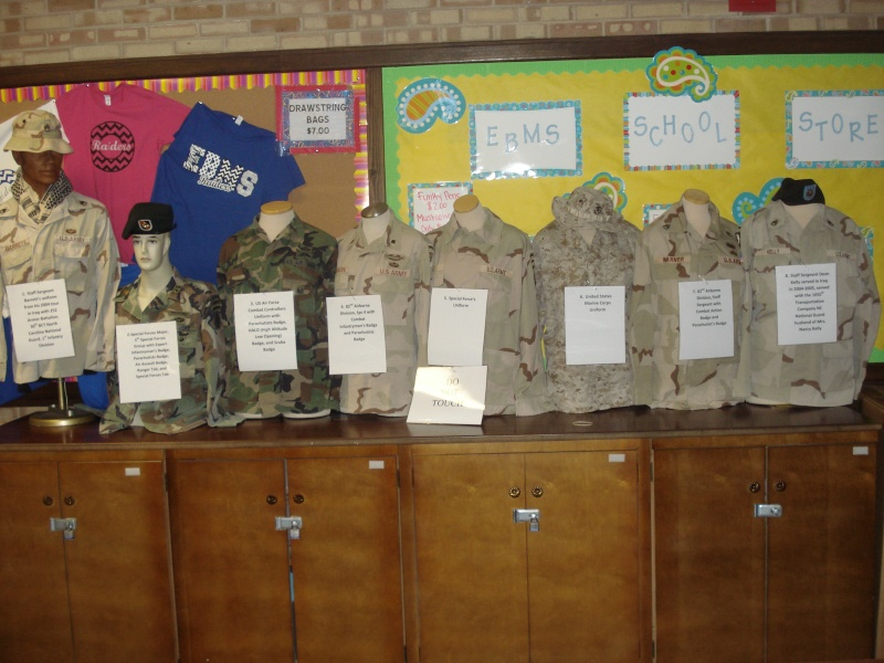 School Display of uniforms! Dsc04010